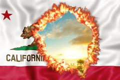 California su fuoco illustrazione di stock