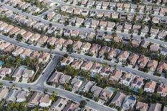 California Suburb Aerial Royalty Free Stock Image