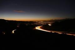 California Suburban Freeway Night Royalty Free Stock Photo