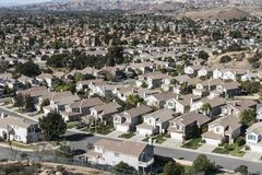 California Suburban Sprawl Royalty Free Stock Images