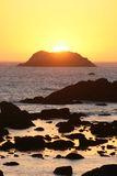 California Sunset. Battery Point lighthouse, Crescent City, California, sunset Stock Images
