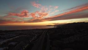California sunset stock video footage