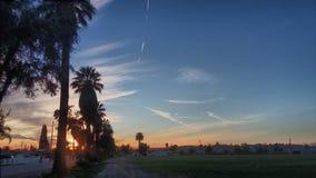 California sunset. Cali sunset hemet sky hdr Royalty Free Stock Image