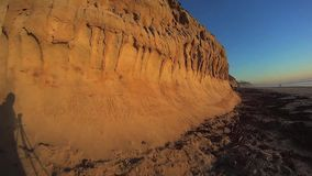 California Sunset Cliffs - ME2 Photographers shadow stock video footage