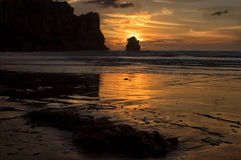 California Sunset, Morro Bay Royalty Free Stock Photo