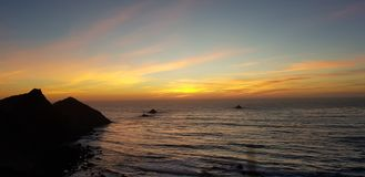 California sunset royalty free stock images