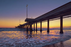 California Sunset. Venice Beach, Venice, California, United States Stock Photos