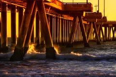 California Sunset. Venice Beach, Venice, California, United States Royalty Free Stock Image