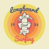 California surf illustration, vectors, t-shirt graphics Royalty Free Stock Photo