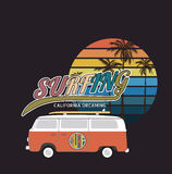 California surf typography, t-shirt graphics , vector format eps Royalty Free Stock Photography
