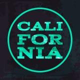 California surf typography t-shirt graphics vectors Royalty Free Stock Photos