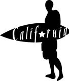 California Surfer design Royalty Free Stock Photo