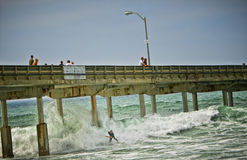 Surfer, Ocean Pier, San Diego, California Stock Images