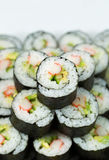 California Sushi Rolls in stacked Pile Royalty Free Stock Photo