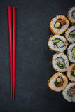 California sushi style rolls, with raw vegetables Royalty Free Stock Photo