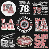 California T-shirt fashion Typography Stock Image