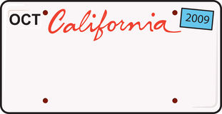 california tablica rejestracyjna ilustracji