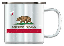 California Tin Cup Stock Image
