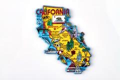 Free California Tourist Map Magnet Souvenir. Stock Photo - 191731810