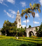 California Tower from Alcazar Gardens Royalty Free Stock Photography