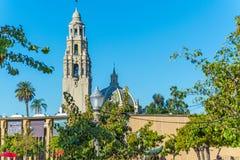 California tower in Balboa park. San Diego Royalty Free Stock Photos