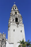 California Tower of the Museum of Man in Balboa Park Royalty Free Stock Photo