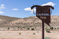 California Trail marker in Eastern Nevada Royalty Free Stock Images
