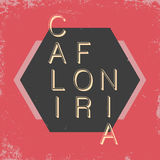 California typography. T-shirt graphics with grunge Stock Image