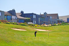 California, United States of America, Usa. Golf course in Bodega Bay on June 13, 2010. Beside beign the setting of Alfred Hitchcock film The Birds, Bodega Bay is Royalty Free Stock Photo