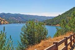California, United States of America, Usa, Yosemite Park, nature reserve, green, landscape, river, sequoia, road, mountain, lake. A lake and view of Yosemite stock image