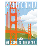 California, United States travel poster or sticker