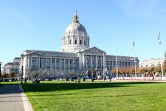 California,USA-December 13,2018 :San Francisco city hall is big and famous in California,USA