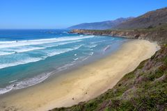 Sand Dollar Beach. California, USA - Pacific coast view. Big Sur region - Sand Dollar Beach (Monterey County Royalty Free Stock Photos