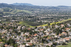 California Valley Suburbs Royalty Free Stock Photo