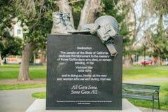 The California Vietnam Veterans Memorial. At Sacramento, California Royalty Free Stock Images