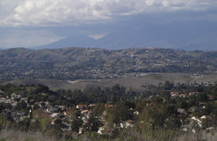 California View. Hilltop  shot of San Gabriel Mountains Royalty Free Stock Photography