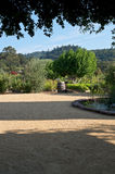 California Vineyard Estate and Courtyard Royalty Free Stock Images