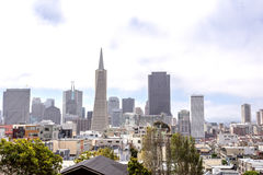 california w centrum Francisco najwięcej możliwie ostrosłupa rozpoznawalnego San linia horyzontu drapacz chmur wysoki transameric Fotografia Royalty Free
