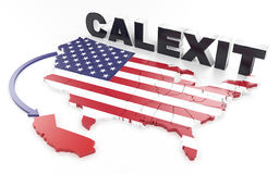 California want`s to leave the USA Stock Photo