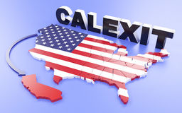 California want`s to leave the USA Stock Image