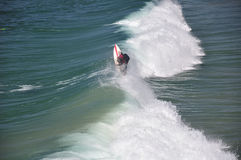 California Waves and Surfer Stock Images