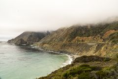 California on the way to Carmel, panoramic view royalty free stock image