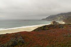 California on the way to Carmel, panoramic view royalty free stock photos