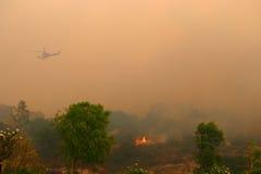 California Wild Fire Smoke Royalty Free Stock Photo