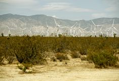 California Wind Power Plant Stock Photo