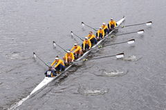 California Women's Crew won the race in the Head of Charles Regatta Women's Master Eights Stock Photography
