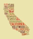 California word cloud Stock Photography
