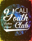 California youth club vector illustration concept in vintage gra Royalty Free Stock Image