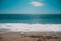 Californian Beach around Long Beach, California. California is known as warm and nice wether. The world is big enough to explore m. Ore royalty free stock image