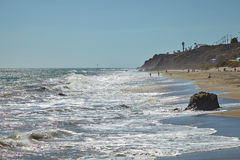 Californian coastal shores : Malibu beaches royalty free stock photos